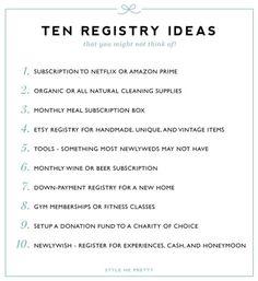 Crafting the Perfect Bridal Registry | Wedding Registry Checklist ...