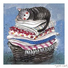 Alex Clark Art - Laundry Basket
