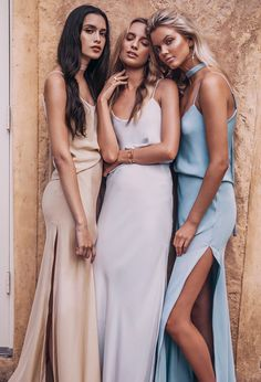 """Maya Stepper, Merethe Hopland & Zoe Barnard in """"La Nouvelle Belle"""" by Louise Smit for Grace Loves Lace Bridesmaid Campaign"""