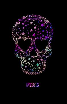 """PINK"" skull galaxy wallpaper I created!"