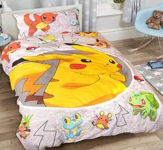 Een heus Pikachu dekbedovertrek voor kinderen. De Pokémon fans kunnen hun lol op met dit vrolijke kinderdekbedovertrek! Pikachu, Pokemon, Comforters, Fans, Blanket, Creature Comforts, Blankets, Followers, Carpet