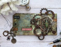 Home - Simon Monday Challenge Blog Tim Holtz Fabric, Gold Acrylic Paint, Tim Holtz Stamps, Simon Says Stamp Blog, Halloween Labels, Stampers Anonymous, Ranger Ink, Distress Oxide Ink, Fabric Tape