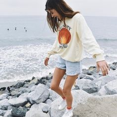 """3,053 Likes, 3 Comments - Brandy Melville (@brandymelvilleusa) on Instagram: """"#brandyusa"""" You Look, Stylish Outfits, Denim Shorts, Make It Yourself, Bunny, Classy Outfits, Jean Shorts, Rabbit, Style Clothes"""