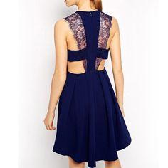 Sexy Lace Strap Dress A Line Dress