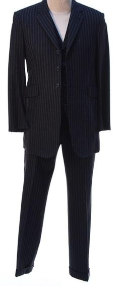 """Charles """"Lucky"""" Luciano's Black Pinstripe Suit"""