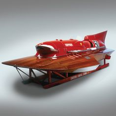 This 1953 Ferrari Hydroplane 'Arno XI' was developed by Achille Castoldi with a little help from Enzo Ferrari.  It is being offered for auction at RM Auctions' upcoming Monaco event, which will take place alongside the Grand Prix de Monaco Historique on the 11th and 12th of May, 2012. Set aside €1,000,000 to €1,500,000.