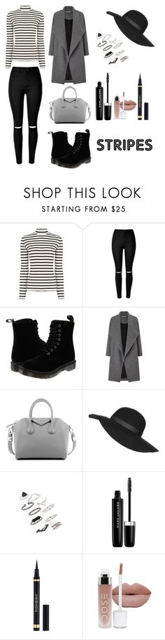 •stripes• by penguinx14 on Polyvore featuring Mode, Oasis, Miss Selfridge, Dr. Martens, Givenchy, Topshop, Marc Jacobs and Yves Saint Laurent