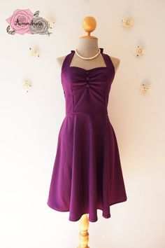 Royal Purple Dress Vintage Inspired Purple Party by Amordress