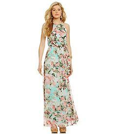 Jessica Simpson Floral-Print Blouson Maxi Dress | Dillard's Mobile