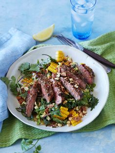 Asian slaw salad with marinated beef recipe | Australian Beef - Recipes, Cooking Tips and More Bbq Hot Plate, Asian Slaw Salad, Australian Beef, Marinated Beef, Salad Ingredients, Fish Sauce, Cooking Time, Beef Recipes, Favorite Recipes