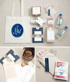 welcome bag ideas - have the bag screened with same image of the wedding