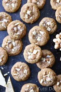 Soft-batch brown sugar cookies with white chocolate and macadamia nuts, the absolute best white chocolate macadamia cookies!