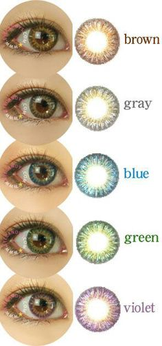 GEO Tri Color World is the colored lenses series we highly recommend for brown eyes. SHOP NOW at www.eyecandys.com with FREE Shipping Worldwide! #eyecandys #circlelens #circlelenses