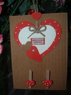 Resultado de imagen para scatola san valentino in roso Mothers Day Crafts, Valentine Day Crafts, Valentines, Diy And Crafts, Crafts For Kids, Mother's Day Diy, Shaker Cards, Mother And Father, Fathers Day