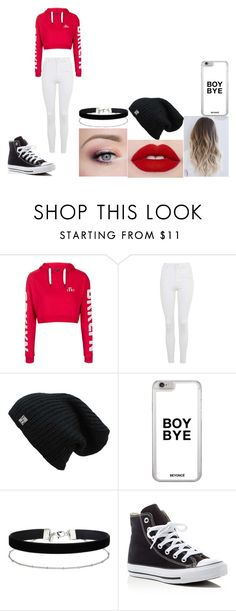 """""""Embers outfit"""" by kaylat22 ❤ liked on Polyvore featuring Topshop, Miss Selfridge and Converse"""
