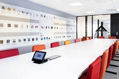 Corporate office designed by Metropolis arkitektur & design. Corporate Office Design, Conference Room, Desk, Mars, Table, Furniture, Home Decor, Desktop, Decoration Home