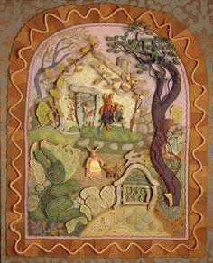 Salley Mavor Fiber art Rabbitit