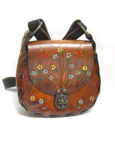 Hand Tooled Leather Purse. This was the first real purse I had - I was crazy about it!