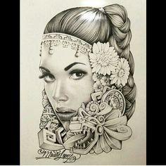 Aztec girl (mouse lopez)