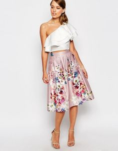 Image 4 of True Violet One Shoulder Ruffle Top Skirt Outfits, Dress Skirt, Dress Up, Party Fashion, Fashion Outfits, Womens Fashion, One Shoulder Ruffle Top, Fiesta Outfit, Fashion Beauty