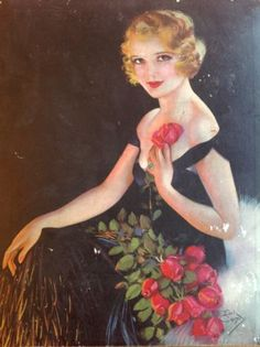 Vintage-Needlers-Hull-F-Earl-Christy-Chocolate-Box-Art-Deco-1920s-1930s-Flapper