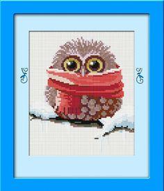 Winter Owl DIY Diamond painting kit Full square drill Diamond embroidery kit Diamond Mosaic for Adults and Kids Cross Stitch Owl, Cross Stitch Patterns, Mosaic Diy, Diamond Art, Embroidery Kits, Christmas Stuff, Plastic Canvas, Owls, Drill