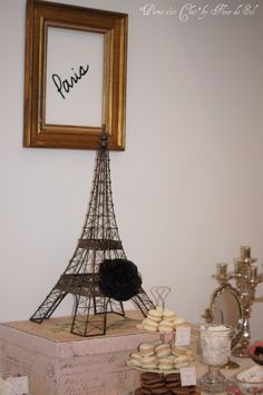"""Paris c'est Chic"" dessert table by Fleur de Sel"