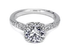 2620RDMDP - Vintage Halo Engagement Ring - Tacori
