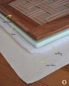 This method would work for recovering dining room chairs:  How To Upholster a Drop-In Seat from Scratch