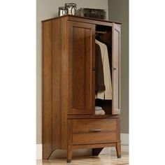 SAUDER Carson Forge Collection Armoire In Washington Cherry 415107 At The  Home Depot   Mobile
