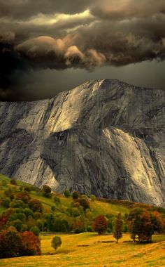 A storm forms over the Pyrenees Mountains, Spain.
