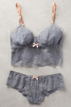 Grey lingerie set