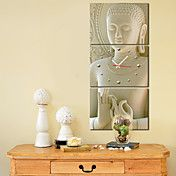 moderne stijl boeddha wandklok in canvas 3pc... – EUR € 57.74