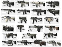 Weapon and Technology: Assault rifles