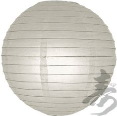 """20"""" Gray Even Ribbing Round Paper Lantern by Asian Import Store, Inc.. $2.28. Dimensions: 20"""" dia. (All lanterns sold without lighting, lighting options must be purchased separately). Round paper lanterns with a even wire ribbing and is held open with a wire expander.. Round paper lanterns with a even wire ribbing. Lantern is held open with a wire expander.  Dimensions: 20"""" dia  (All lanterns sold without lighting, lighting options must be purchased separately)"""