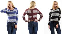 TA7039 knitted back ribbon top 3 colors available