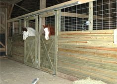For riders on a budget, these DIY stall fronts using economically priced feedlot panels and track door hardware, which can be purchased at most farm supply stores, are definitely an option!