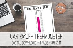 Car Payoff Thermometer Printable Tracker Automobile Payoff | Etsy