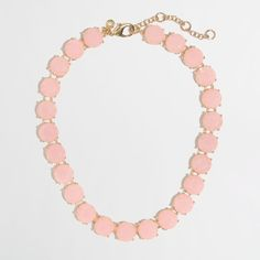 Jcrew Translucent Stone Necklace Pink Beautiful and gets so many compliments, just don't wear it anymore. J. Crew Jewelry Necklaces