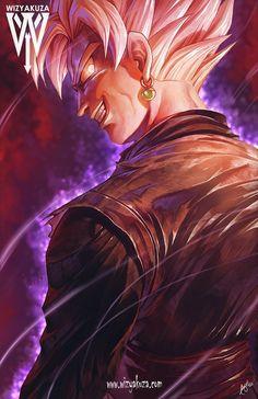 Black goku by wizyakuza Dragon Ball Z Shirt, Dragon Ball Gt, Black Goku, Wizyakuza Anime, Kid Buu, Thanos Avengers, Super Images, Fanarts Anime, Animes Wallpapers