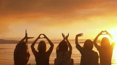 "Five Girls Spell ""Love,"" Make Heart w/Hands At Sunset On The Beach - HD stock footage clip Best Friend Drawings, Bff Drawings, Friend Poses Photography, Sunset Girl, Perspective Photography, Pic Pose, Best Friend Pictures, Cute Friends, Photoshoot"