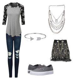 """""""🤘🏽"""" by cindyhernandez15963 on Polyvore featuring Vans, J Brand, LE3NO, Bling Jewelry and Jérôme Dreyfuss"""