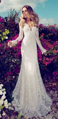lace wedding dress with sleeves and call (310) 882-5039 if you need a wedding celebrant https://OfficiantGuy.com