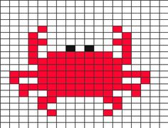 Tricksy Knitter Charts: crab by susan hall Tapestry Crochet Patterns, Loom Patterns, Beading Patterns, Embroidery Patterns, Knitting Charts, Baby Knitting Patterns, Cross Stitching, Cross Stitch Embroidery, Cross Stitch Designs