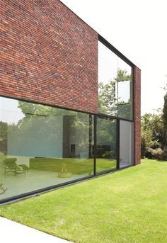 Ara architecten moderne woning moreno baksteen vandersanden maaseik overdekt terras ara for Overdekt terras model