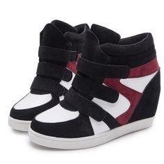 Winter Shoes Leopard Suede Ankle Boots Heels Platform Wedge Sneakers