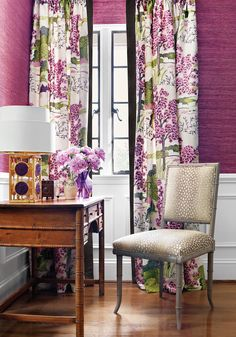 Darien Dining Chair from Thibaut Fine Furniture in Gazelle woven fabric in Linen from the Menagerie collection.