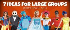 Halloween Costumes ideas for Large Groups of 10 or more!