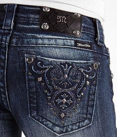 Miss Me Junior's Studded Pocket Dark Bootcut Jeans