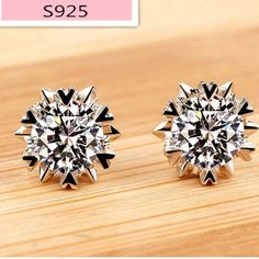 925k sterling silver CZ earrings New Jewelry Earrings